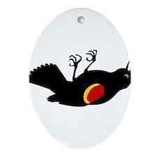 Fallen Blackbird Ornament (Oval)