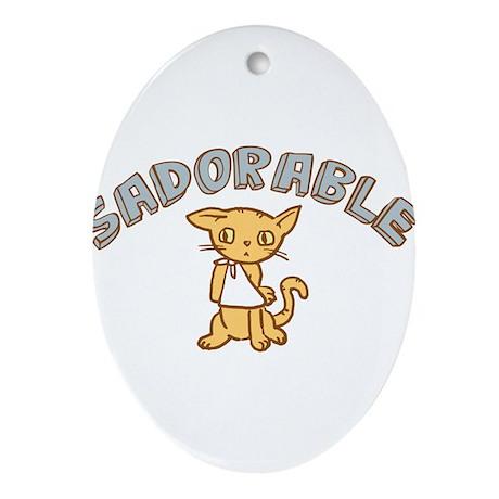 Sadorable Kitten Ornament (Oval)