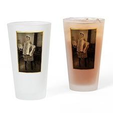 Retro Accordion Drinking Glass