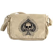 Skull Ace Of Spades Messenger Bag