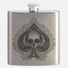 Skull Ace Of Spades Flask
