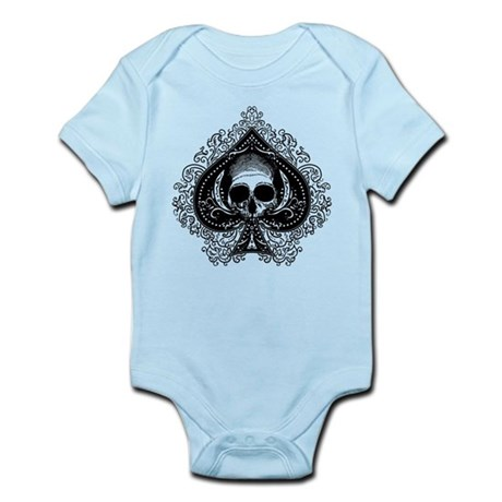 Skull Ace Of Spades Infant Bodysuit