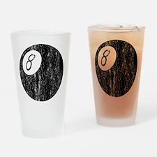 Worn 8-Ball Drinking Glass