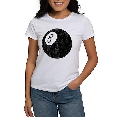 Worn 8-Ball Women's T-Shirt