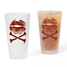 Kiss And Crossbones Drinking Glass