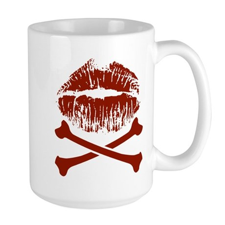 Kiss And Crossbones Large Mug