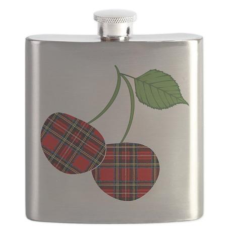 Punk Plaid Cherry Flask