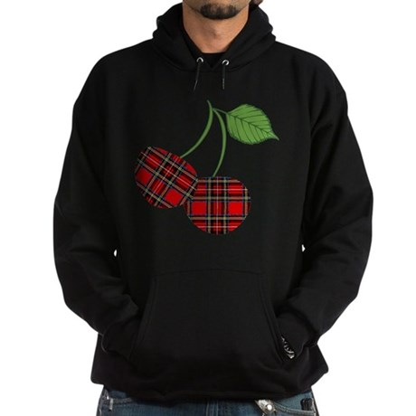 Punk Plaid Cherry Hoodie (dark)