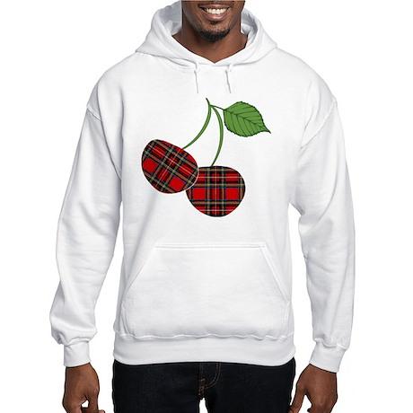 Punk Plaid Cherry Hooded Sweatshirt