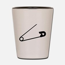 Safety Pin Graphic Shot Glass