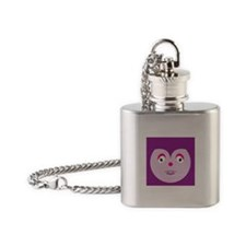 Mouse Monster closeup Flask Necklace