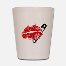 Safety Pinned Kiss Shot Glass