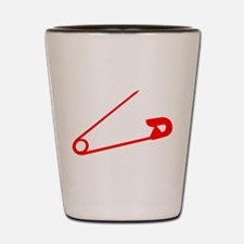 Red Safety Pin Shot Glass