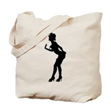Burlesque Lady Silhouette Tote Bag