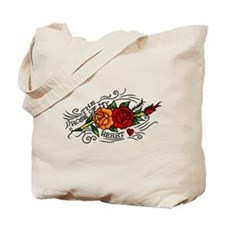Vintage Rose Of My Heart Tattoo Art Tote Bag