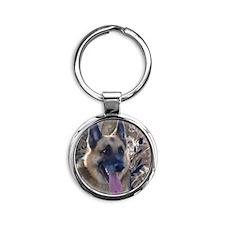 German Shepherd Round Keychain