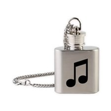 Double Eighth Note Flask Necklace