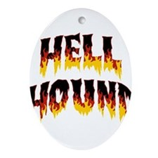Retro Hell Hound Ornament (Oval)