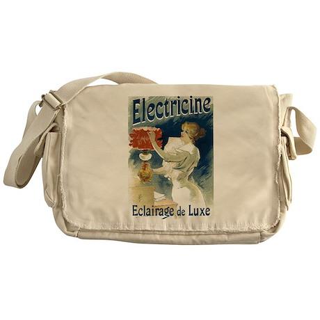 Vintage Poster Art Electricine Messenger Bag