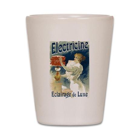 Vintage Poster Art Electricine Shot Glass