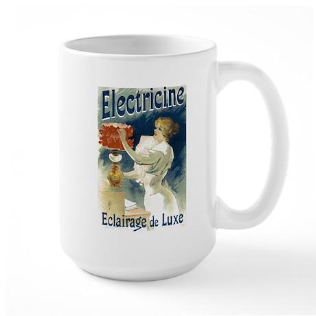 Vintage Poster Art Electricine Large Mug