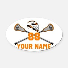 Personalized Crossed Lacrosse Sticks with Helmet O