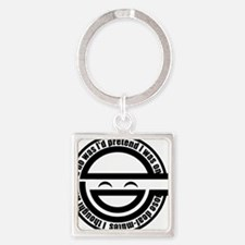 Laughing Man Square Keychain