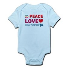 Peace Love Great Pyrenese Infant Bodysuit
