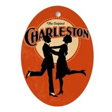 Vintage Charleston Music Art Ornament (Oval)