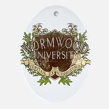 Worn Wormwood University Ornament (Oval)