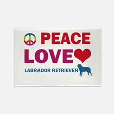 Peace Love Labrador Retriever Rectangle Magnet