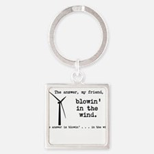 blowin in the wind Square Keychain