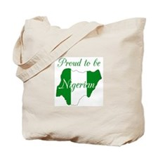 Proud to be Nigerian (map #1) Tote Bag
