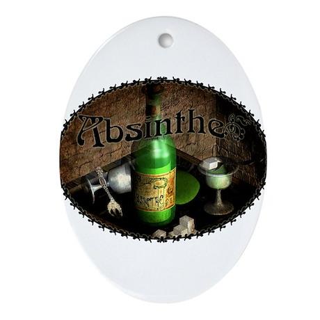 Absinthe Still Life On Tray Ornament (Oval)