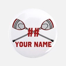 Personalized Crossed Goalie Lacrosse Sticks Red 3.