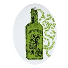 Absinthe Bottle With Swirls Ornament (Oval)