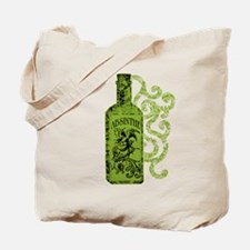 Absinthe Bottle With Swirls Tote Bag