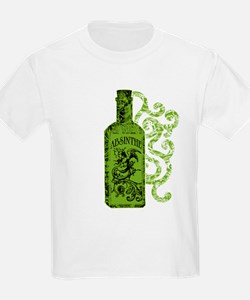 Absinthe Bottle With Swirls T-Shirt