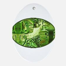 La Fee Verte Collage Ornament (Oval)