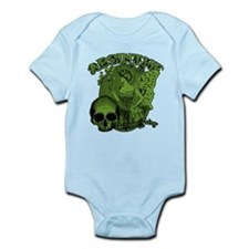 Absinthe Green Fairy Lady Collage Infant Bodysuit