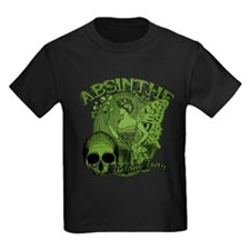 Absinthe Green Fairy Lady Collage T