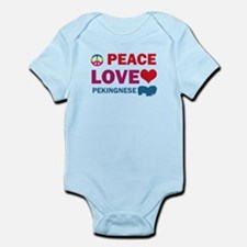Peace Love Pekingnese Infant Bodysuit