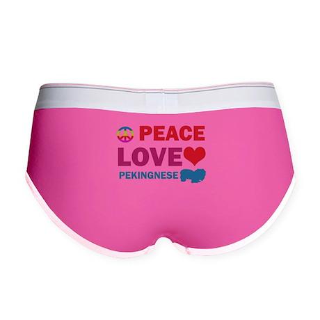 Peace Love Pekingnese Women's Boy Brief
