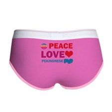 Peace Love Pekingnese Women's Boy Brief