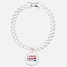 Peace Love Pekingnese Bracelet
