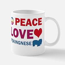 Peace Love Pekingnese Mug