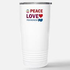Peace Love Pekingnese Travel Mug