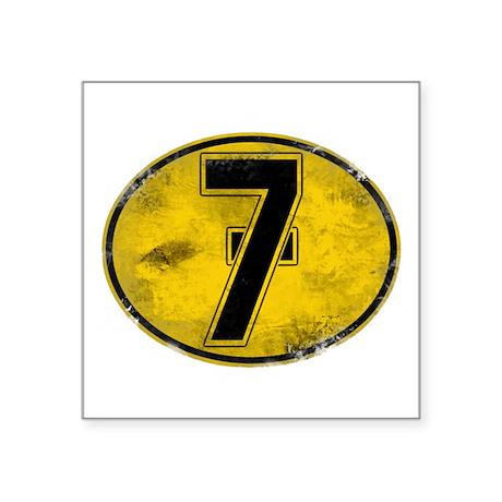"Lucky 7 Square Sticker 3"" x 3"""