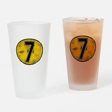 Lucky 7 Drinking Glass