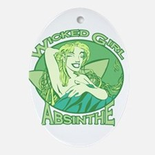 Wicked Girl Absinthe Ornament (Oval)